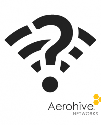 Wireless survey icon with Aerohive branding
