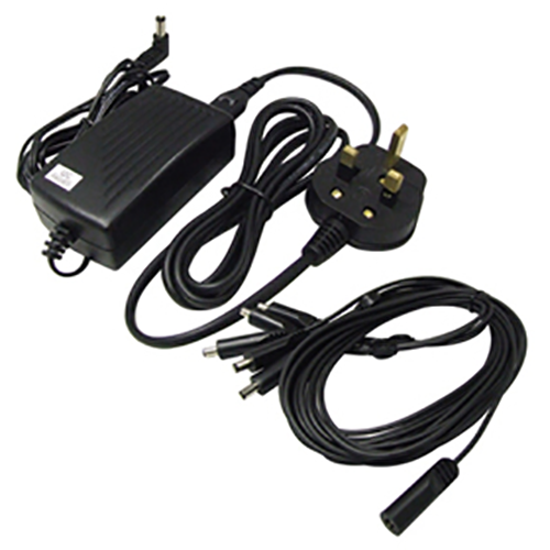 IQCCTV Multi camera 12V DC 2000ma Power Supply with 5 Trailing DC Plugs