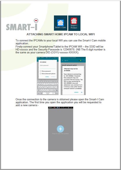 smart i IPCAM Wifi setup