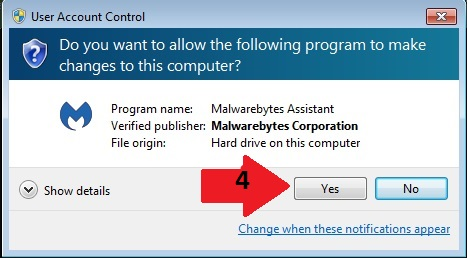 malwarebytes user account control
