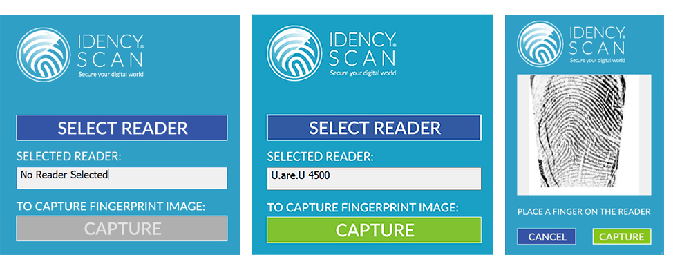 IdencyScan - Easily scan and save images of fingerprints