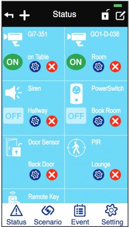 Smartphone app screenshot