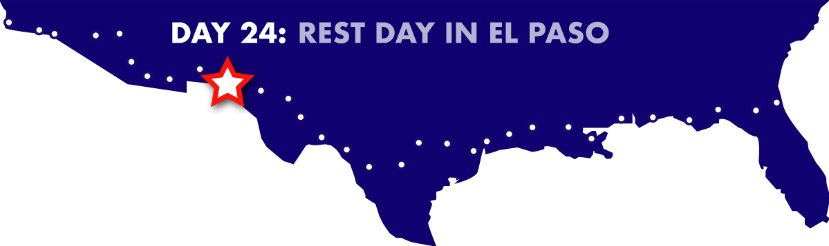 Day 24: Rest day in El Paso