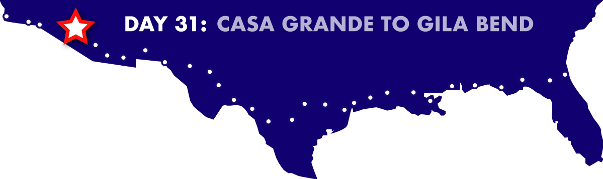 Day 31: Casa Grande to Gila Bend
