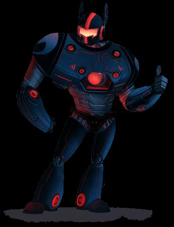 Image: Malwarebytes robot character