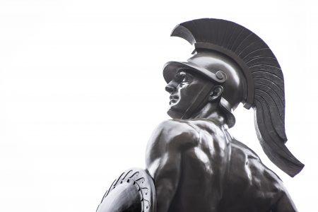 Photo: statue of Trojan war fighter