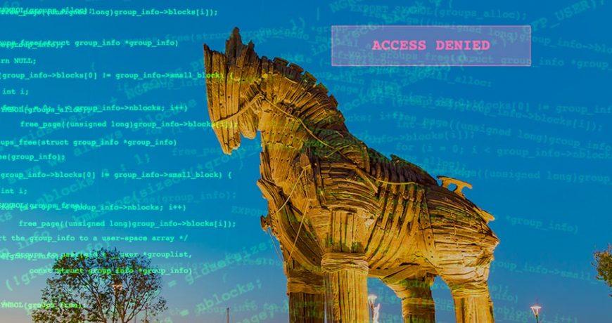 Photo: Trojan Horse status in Turkey overlaid with random computer code