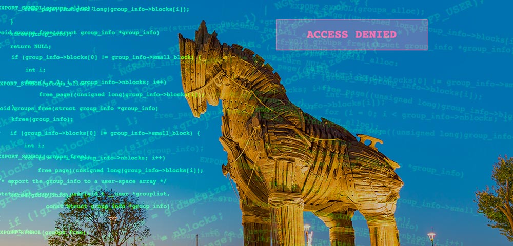 Photo: Trojan Horse status in Turkey overlaid with random computer code