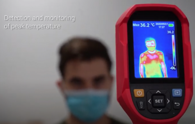Handheld body temperature scanner
