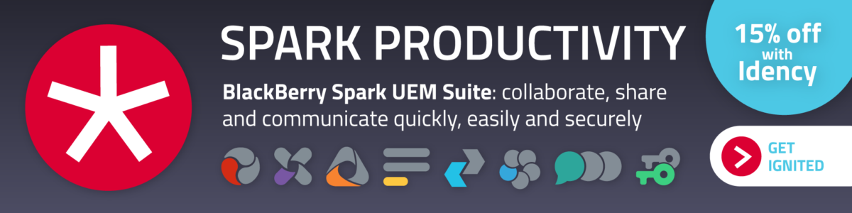 Spark Productivity with the BlackBerry Spar UEM Suite. Collaborate, share and communicate quickly, easily and securely. 15% off with Idency. Click here.