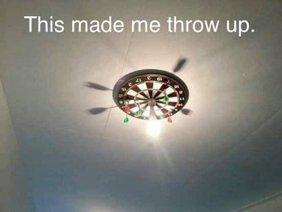 Throw up dart board